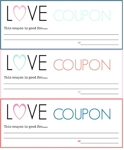printable coupons for him template diy coupons free printable