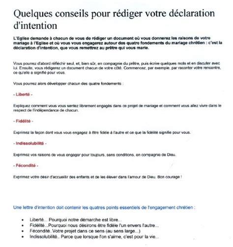 Présentation Lettre D Intention Mariage Mariage Lettre Intention Lettre De Motivation 2017
