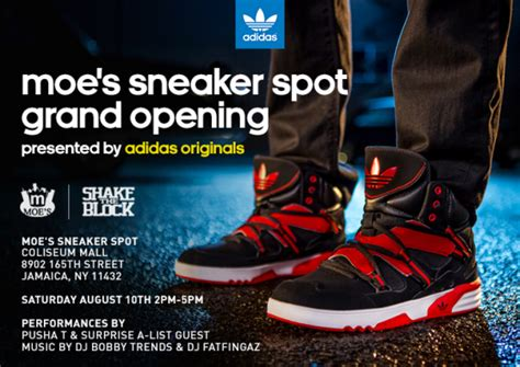 moe s sneaker spot adidas rh instinct launch with pusha t and fabolous at moe