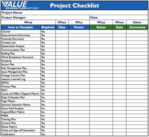 project list template project checklist template word world of exle