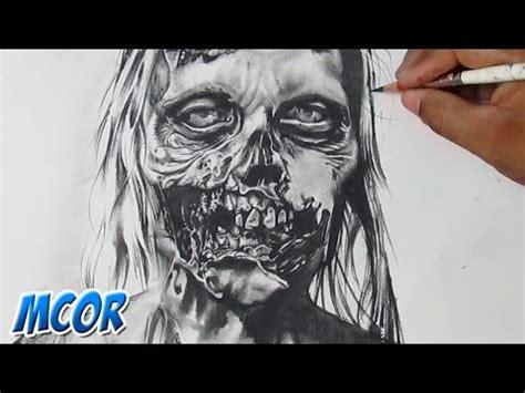 imagenes de zombie en 3d dibujando un zombie de quot the walking dead quot youtube