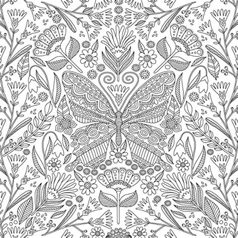 complex butterfly coloring pages blooms birds and butterflies adult coloring book 31