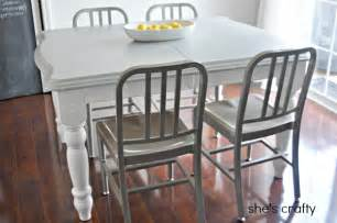 gray kitchen table she s crafty gray and white painted kitchen table