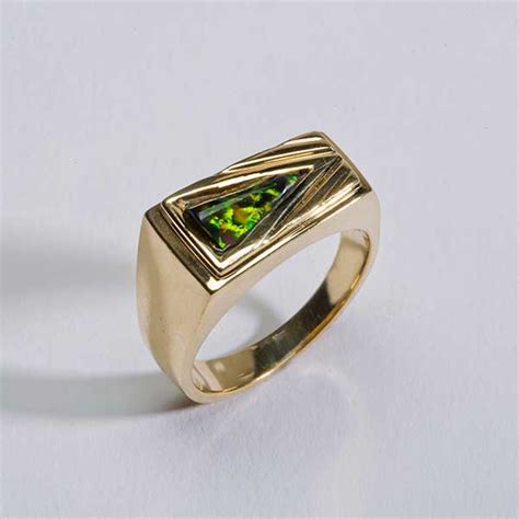 black opal mens ring black opal ring california collectors