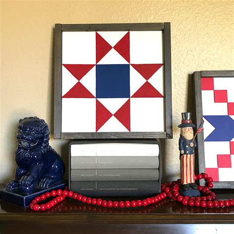 home decor blogs usa patriotic home decor barn quilt blocks two ways