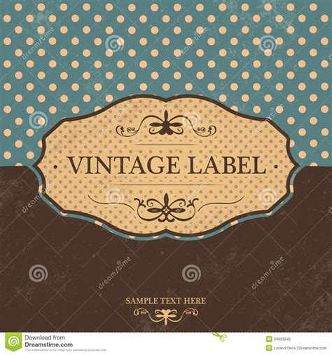 design vintage label vintage label design with retro background royalty free