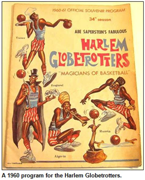 the superstar story of the harlem globetrotters history of stuff books a 1960 program for the harlem globetrotters
