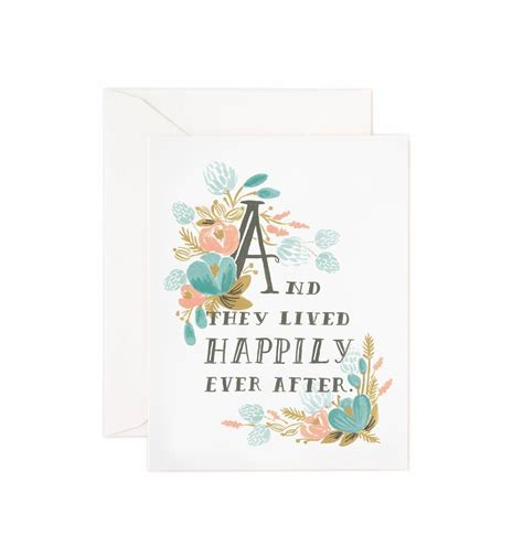 Wedding Wishes Happily After by Happily After Greeting Card By Rifle Paper Co Made