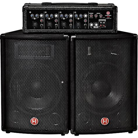 Speaker Gmc 60 Watt harbinger m60 60 watt 4 channel compact portable pa with autos post