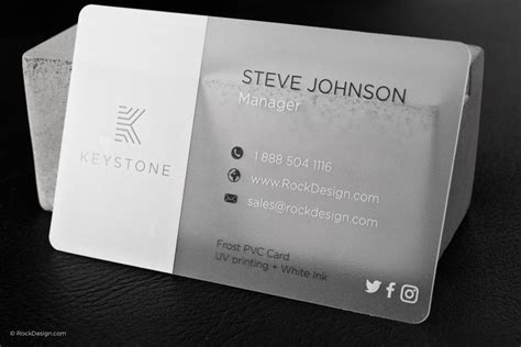 pvc card template explore frosted business cards rockdesign