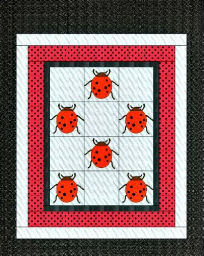 Ladybug Quilt Patterns by The Ladybug Quilt Pattern Makes An Adorable Gift For A
