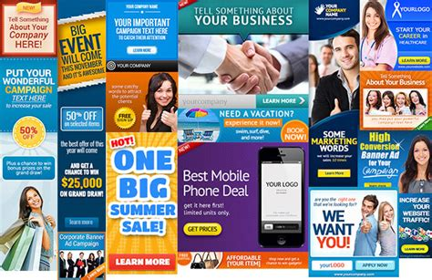 ad banner templates corporate web banner set bundle 14 graphicriver