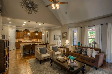 Living Room Vaulted Ceilings Decorating Ideas by Ashton Woods Atlanta Interiors Traditional Living Room