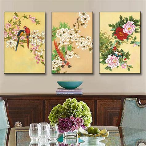 Lukisan Set Bunga Dekoratif Hijau buy grosir tradisional kanvas cetak from china