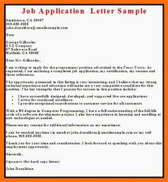 business letter exles application letter
