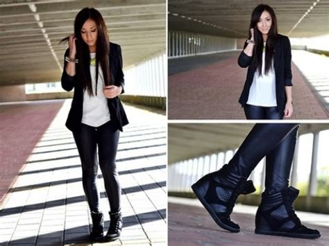 what to wear wedge sneakers with and how to style