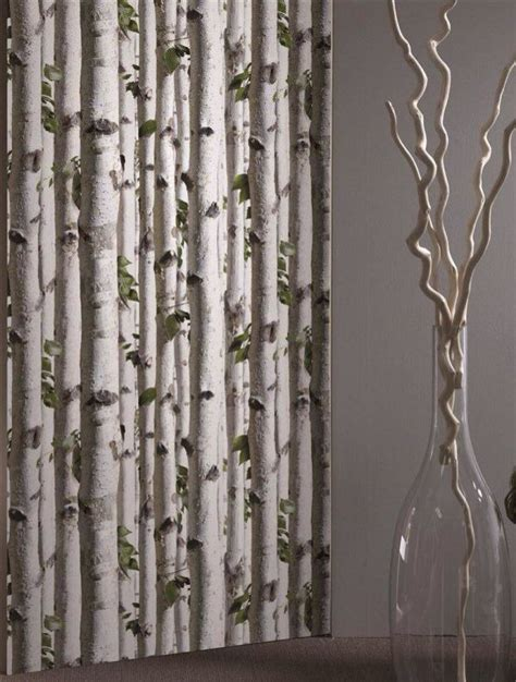 birch tree curtains white birch tree wallpaper and i thought it was curtains