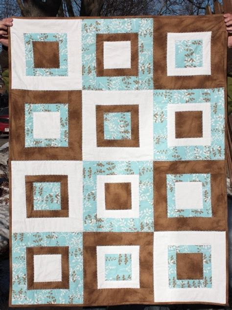 blue pattern casual baby quilt 12 best images about blue brown quilts on pinterest