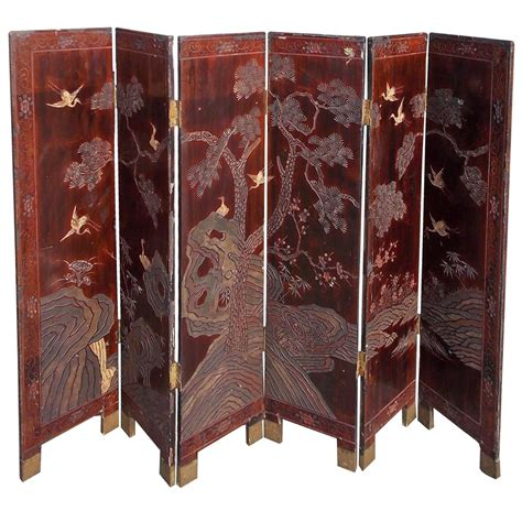 Decorative Folding Screens by Six Panel Decorative Folding Screen Circa 1780 For Sale At 1stdibs