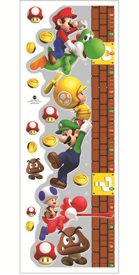 super mario home decor super mario bros wall stickers for kids baby rooms