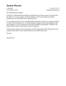 Housekeeper Cover Letter Sle by Leading Professional Room Attendant Cover Letter Exles