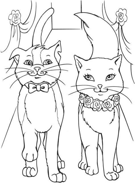 barbie cat coloring pages katten digi s pinterest cat barbie princess and