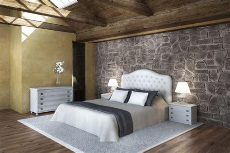 decorare parete da letto decorare una parete con le pietre in da letto 20