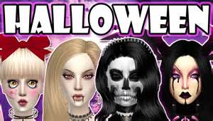 Inappropriate Halloween Costumes The Sims 4 Halloween Costumes Vampire Creepy Doll Demon And Skeleton Lookbook Youtube