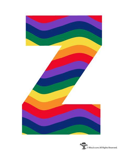 colored bubble letters rainbow letter z woo jr kids activities