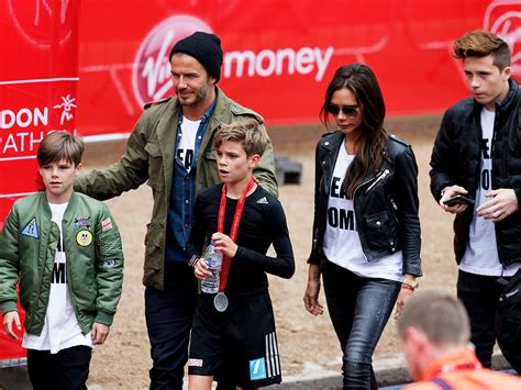 romeo beckham la romeo beckham runs in london marathon people