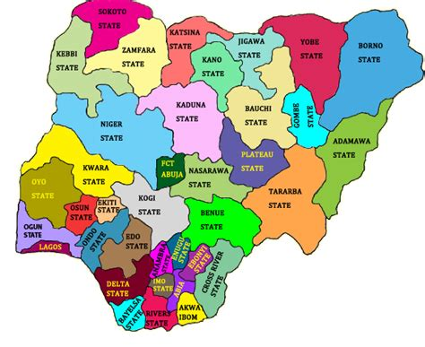 map of nigeria with states inec state offices 171 inec nigeria