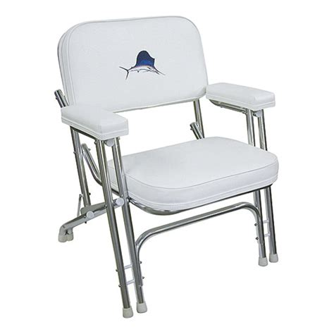 aluminium boat chairs wise seating folding deck chair with embroidered