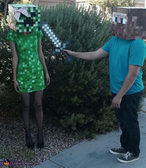 minecraft steve  creeper couple costume