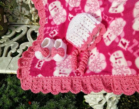 Crochet Edging For Blanket by Sweet Shells Crochet Edging And Baby Bonnet