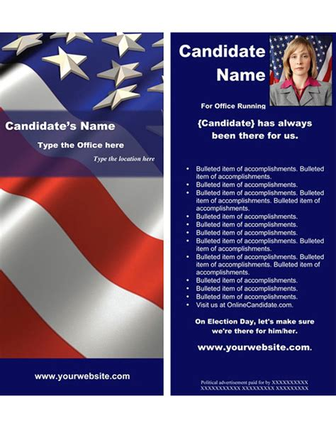 political brochure template resources for candidates running for local office