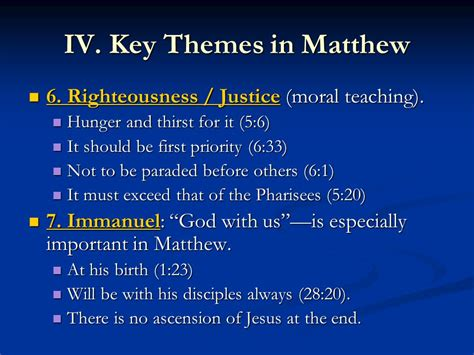 themes in the book of matthew a historical theological background to matthew ppt