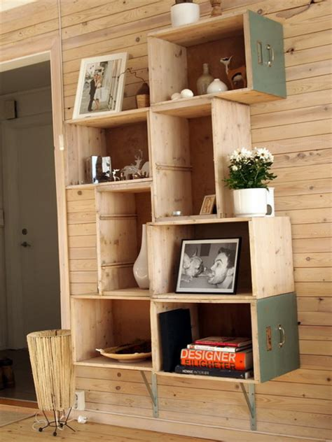 Building Drawers Into A Wall by Shelves Made From Drawers Of Furnituer 32 Diy Home