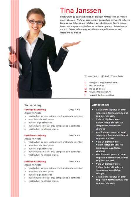 Cv Sjabloon Word Cv Sjabloon Ms Word Cv Sjablonen Lifebrander