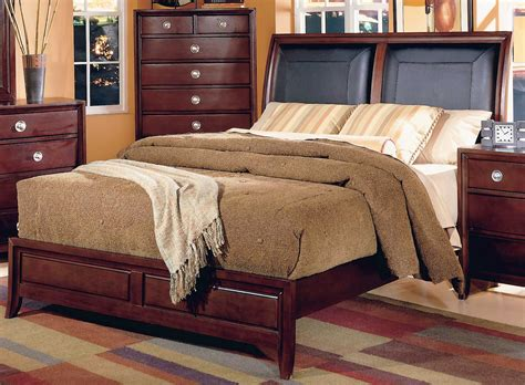 Leather Headboard Sleigh Bed by Homelegance Capria Sleigh Bed Leather Headboard 878ll 1