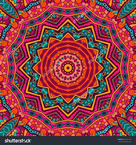 colorful mandala abstract festive colorful mandala vector ethnic tribal