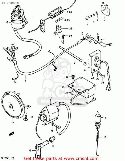 Suzuki Gp100 Parts Suzuki Gp100 1981 Ex Electrical Schematic Partsfiche