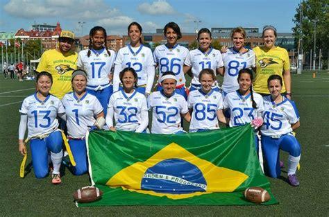 uniforme flag football hombre para brasil ter 225 novo uniforme em amistoso de futebol americano