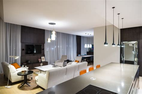apartment design shows high tech and high end apartment in warsaw by republika