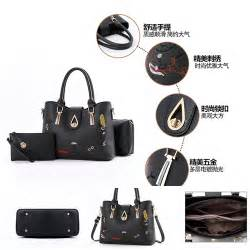 3 Tas Fashion 3in1 jual b8631 black tas fashion set 3in1 grosirimpor