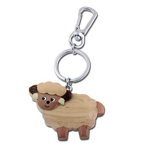 wooden boat keychain wooden standing sheep keychain
