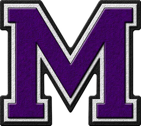 a m presentation alphabets purple varsity letter m