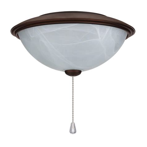 Contemporary Ceiling Fan Light Kit Nutone Alabaster Glass Contemporary Bowl Ceiling Fan Light Kit With Rubbed Bronze Trim