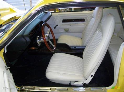 White Challenger Interior by White Interior 1972 Dodge Challenger Coupe Photo 19556685