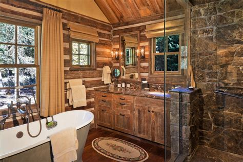 Cabin Bathroom Ideas 45 Rustic And Log Cabin Bathroom Decor Ideas 2018 Wall Decoration