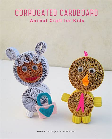 Creative Handcraft - corrugated paper animal craft for creative